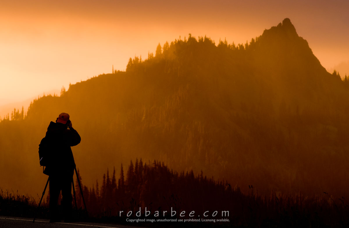 Barbee_030714_1_1974 |  Photographer at sunrise on Hurricane Ridge