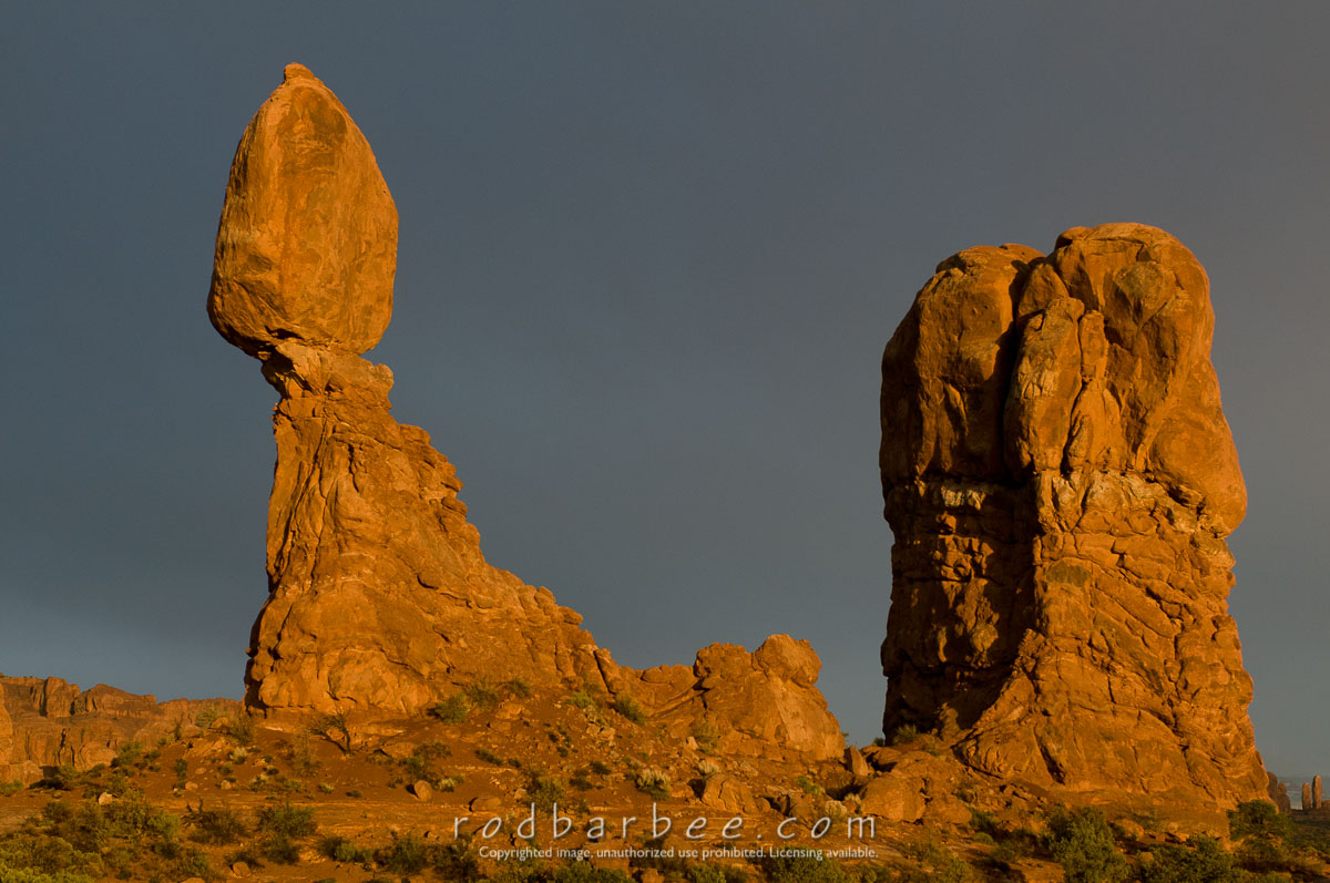 Barbee_090415_3_9323 |  Balanced Rock at sunset