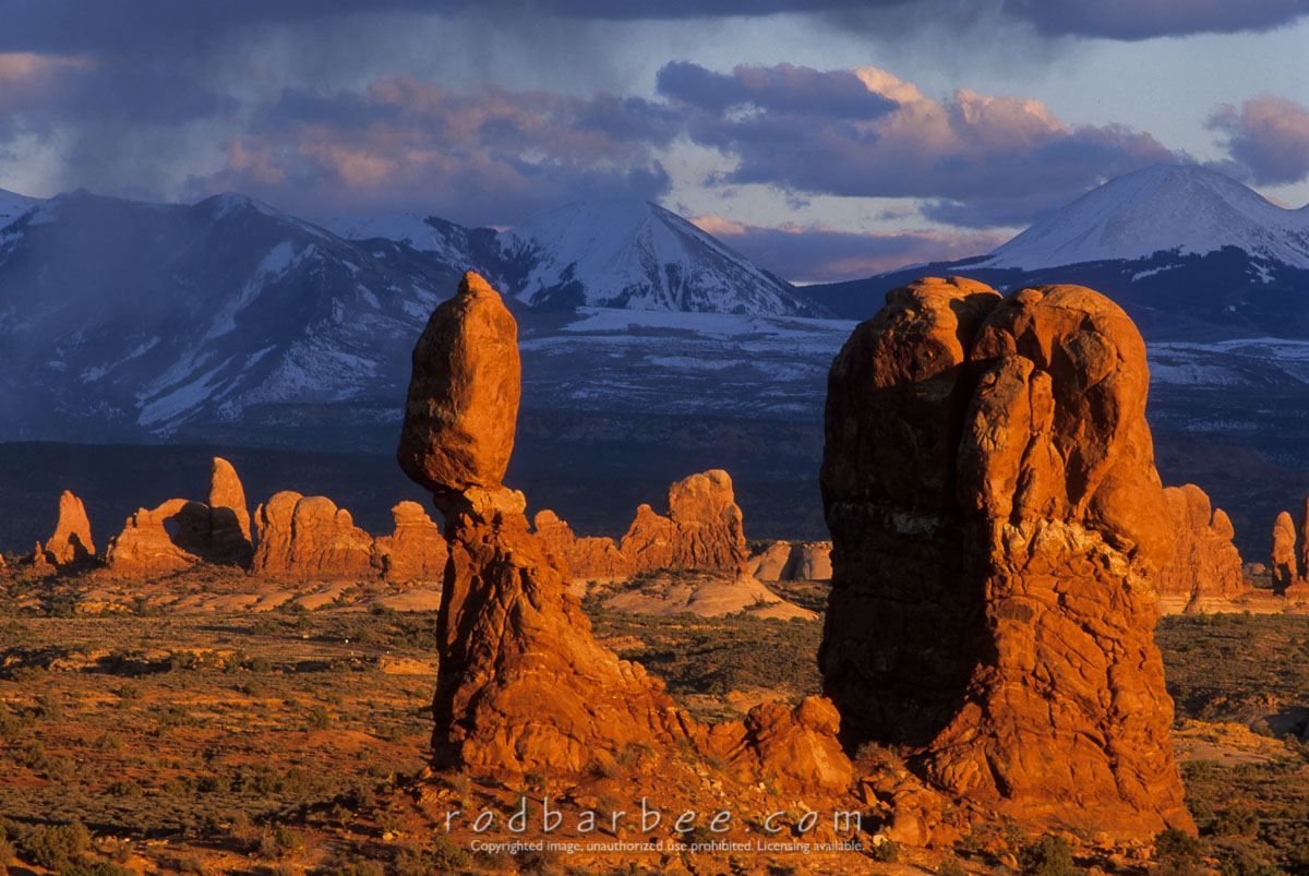 Barbee_11922 |  Balanced Rock at sunset, Arches National Park, UT