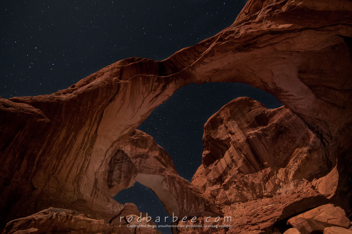 Barbee_130420_3_1353 |  Double Arch at night. Star points