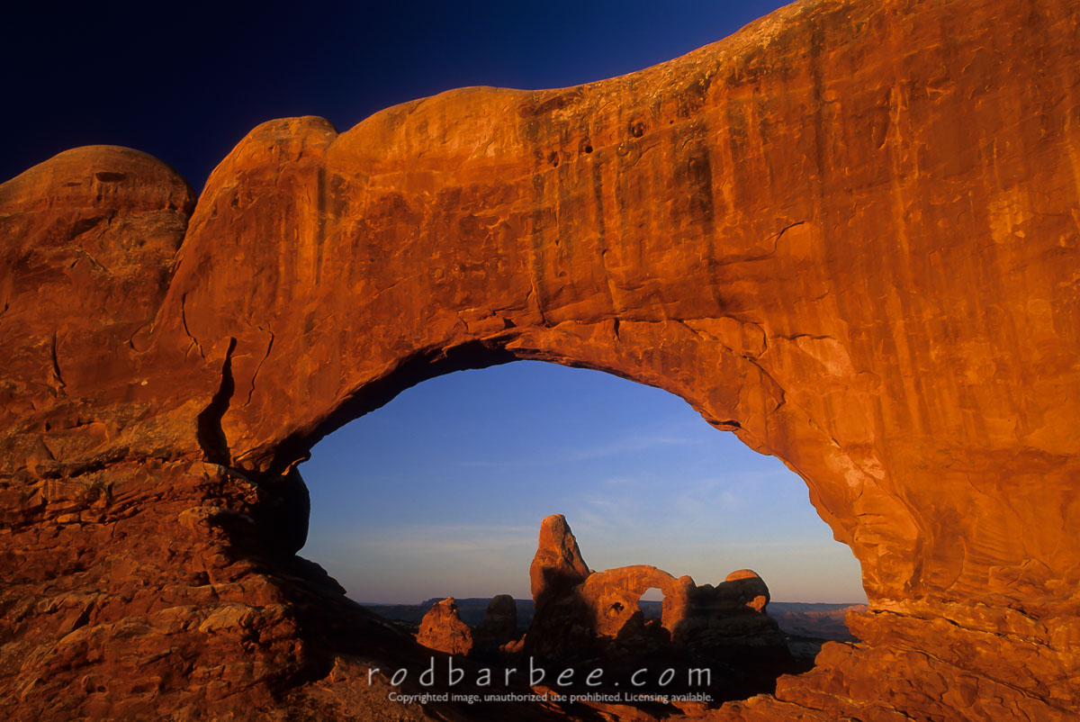 barbee_11914 |  Turret Arch through North Window, Arches National Park, UT