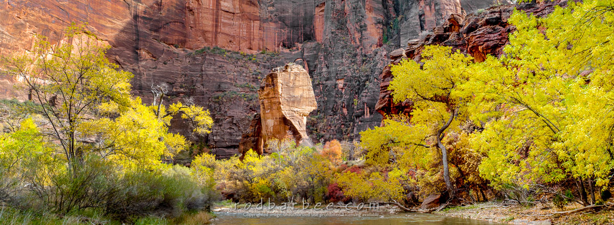 "Barbee_051106_1_7715-pano |  Virgin River and ""The Pulpit"" in the Temple of Sinewava"