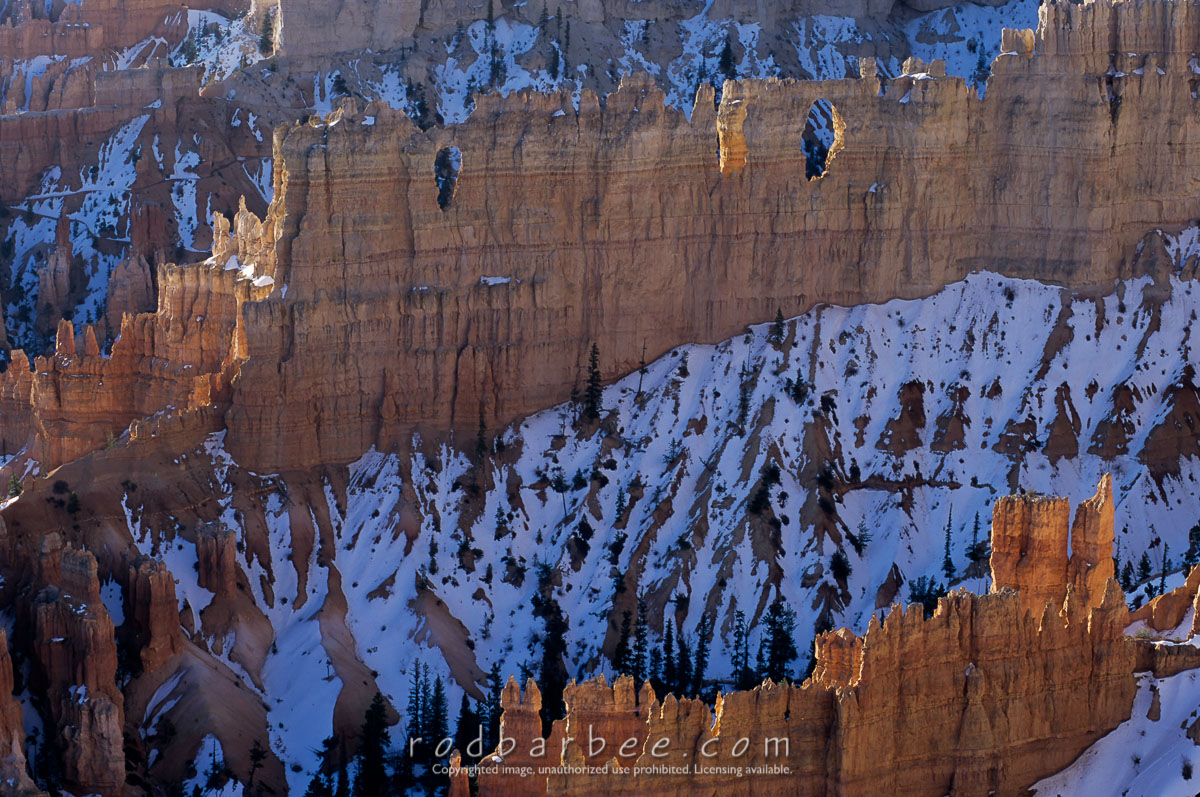 barbee_11450 |  Hoodoos and snow from Upper Inspiration Point, Bryce Canyon National Park, UT