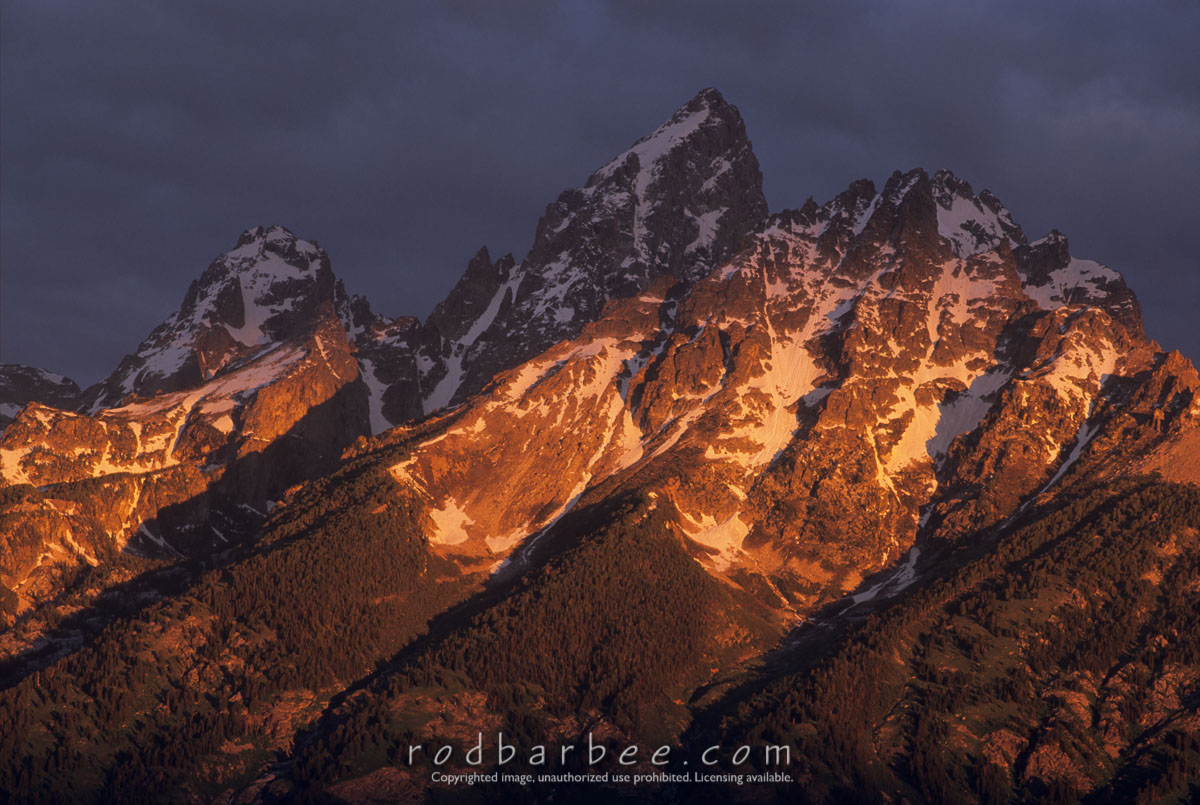 Barbee_11430 |  Grand Teton at sunrise. From Snake River Overlook. Grand Teton National Park, WY