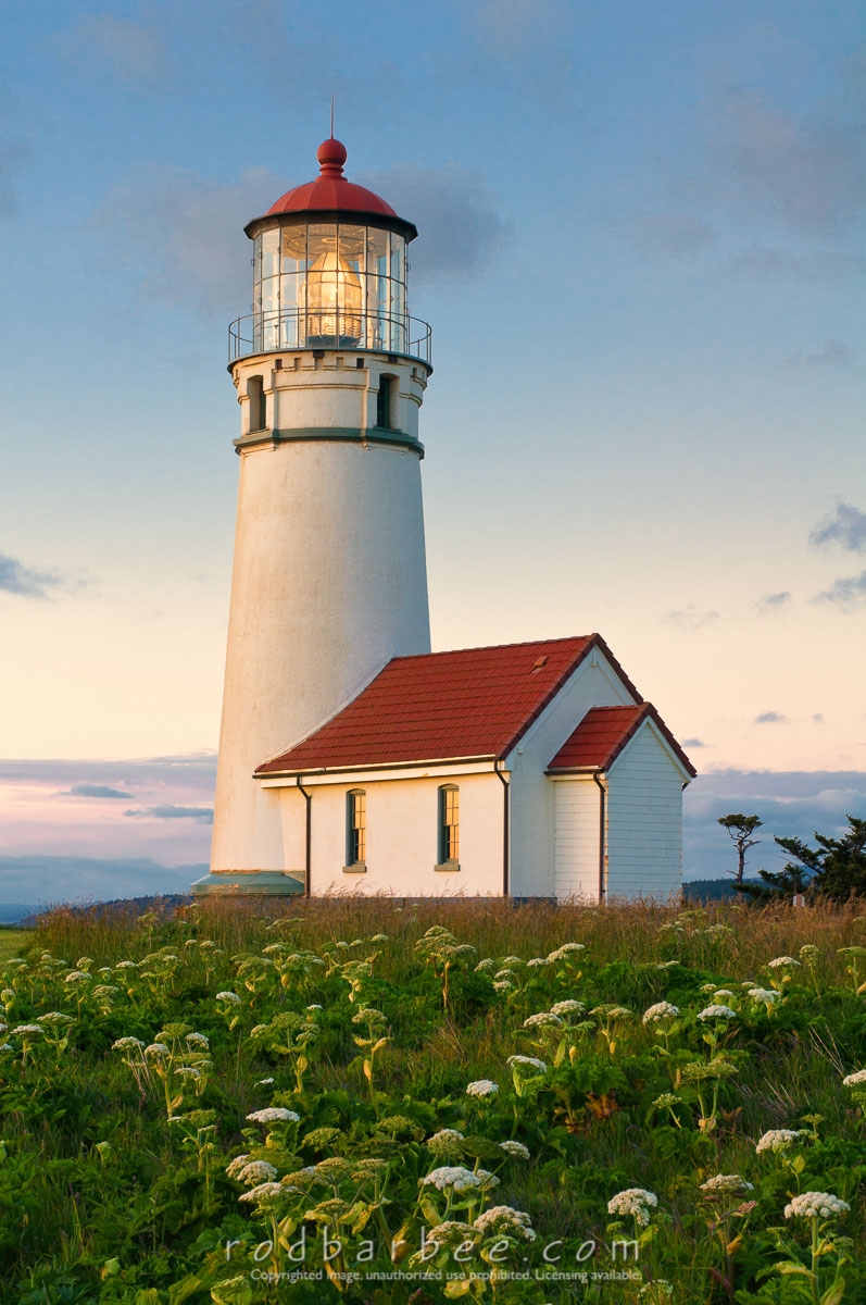 Barbee_100528_3_3537-Edit |  Cape Blanco Lighthouse, sunset.
