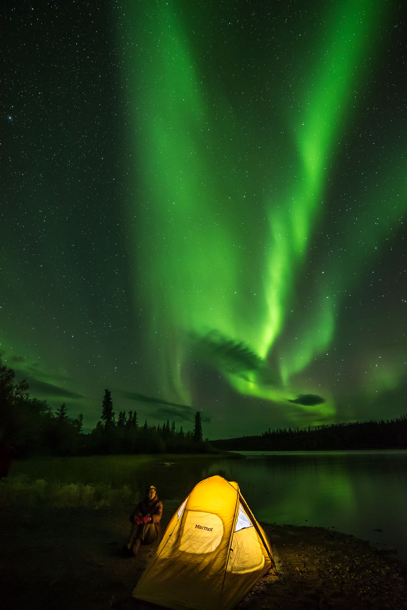 Barbee_160906_9095 |  Aurora over Prelude Lake, Powder Point Territorial Park, Northwest Territories, Canada