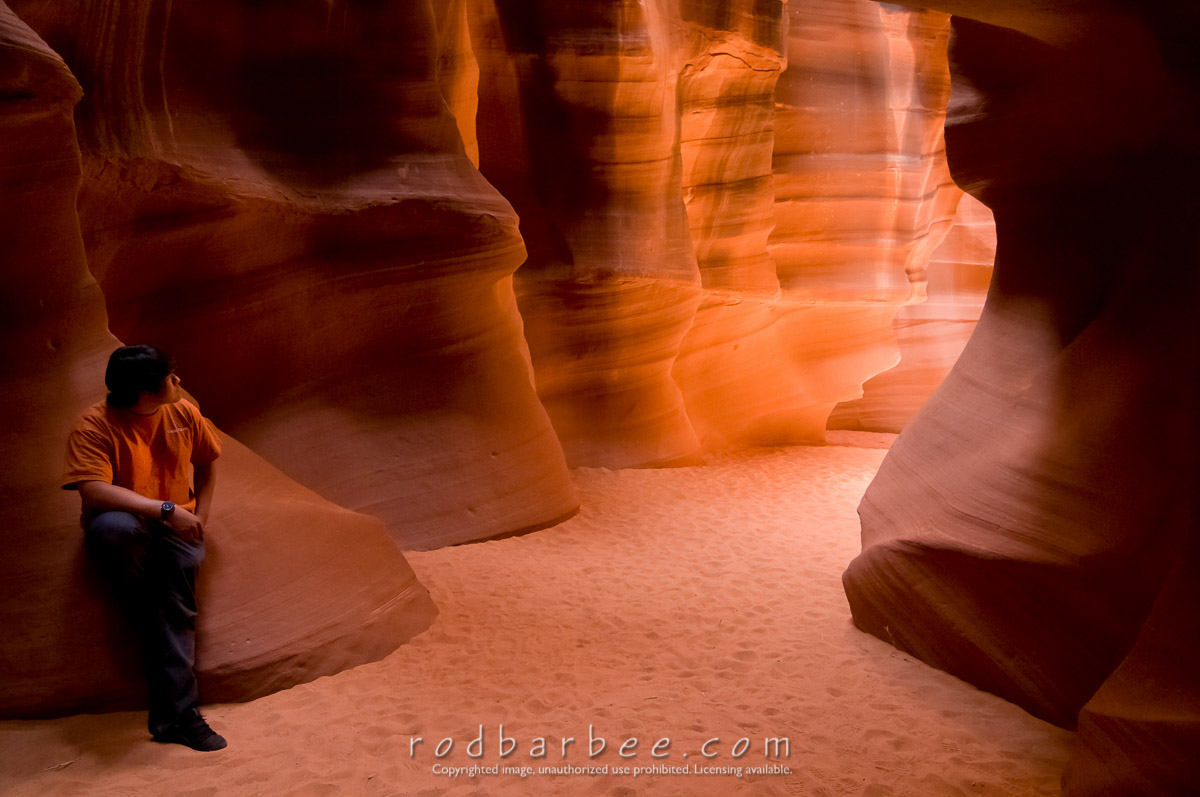Barbee_100415_3_3148 |  Navajo guide in Upper Antelope Canyon (Josh)