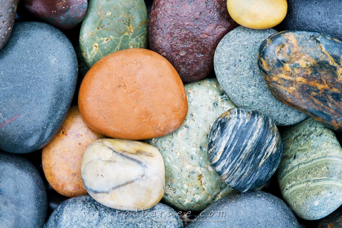 Barbee_090723_3_1618_12x18 |  Colorful rocks on Rialto Beach, Olympic National Park